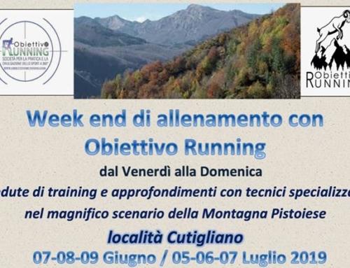 WEEKEND DI ALLENAMENTO CON OBIETTIVO RUNNING